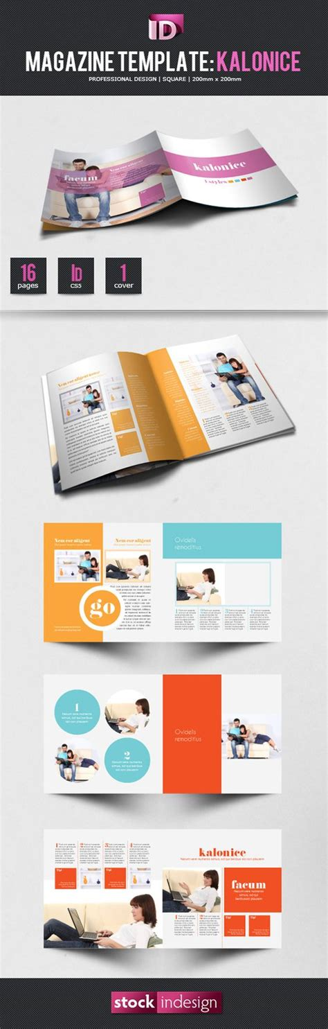 indesign zine tutorial magazine template templates and magazines on pinterest
