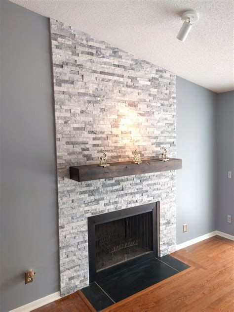 best 25 stacked rock fireplace ideas on