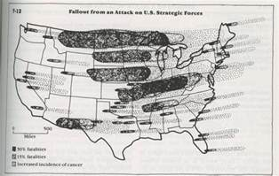 us radiation fallout map nuclear war radioactive fallout and the earth s global