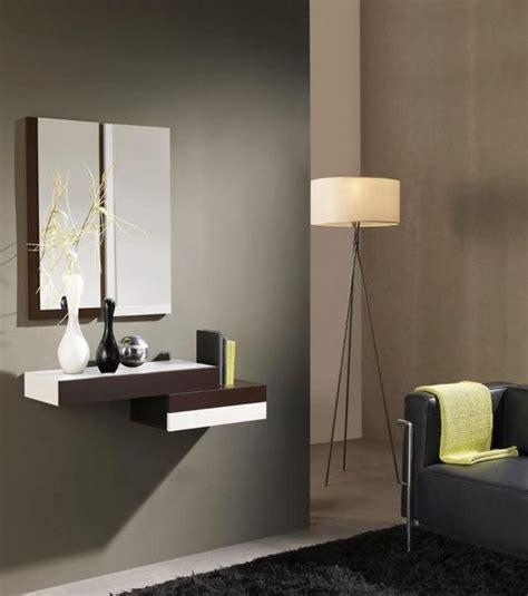 consolle moderne per ingressi consolle da ingresso sospesa con specchio