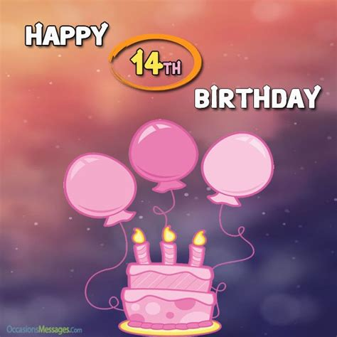 Happy 14th Birthday Wishes 14th Birthday Wishes And Messages Occasions Messages