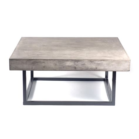 coffee table mia concrete indoor outdoor coffee table