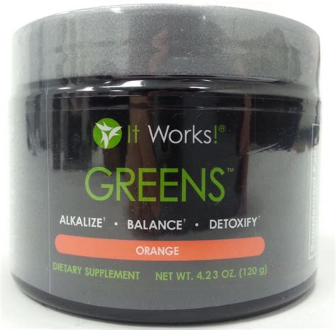 8 greens supplement it works greens on the go orange flavor 120g dietary