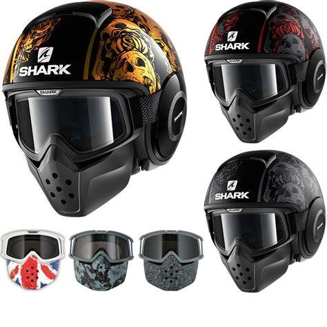 open face motocross helmet shark drak sanctus open face motorcycle helmet with goggle