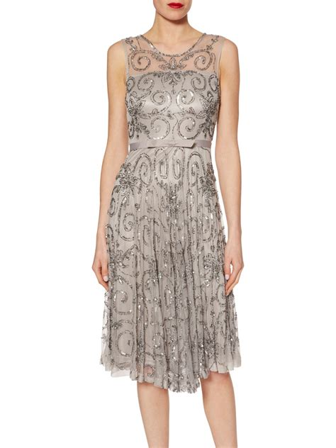 beaded silver dress bacconi beaded dress with belt sale silver neck