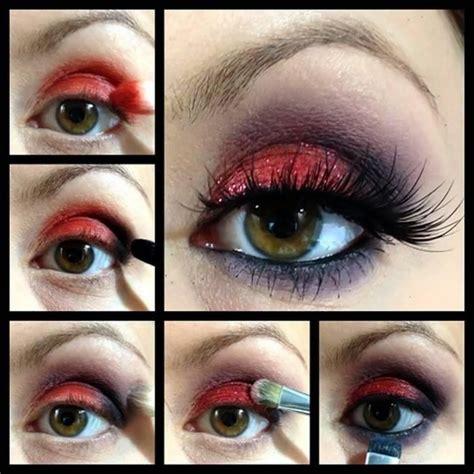 eyeshadow tutorial red tutorial amazing red eye makeup make up pinterest