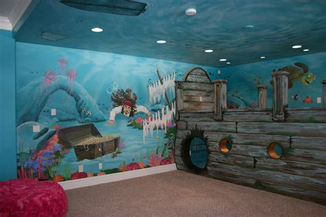 pirate wall murals bawden murals sunken ship pirate underwater mural