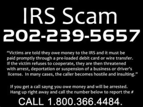 Scammer Phone Number Lookup Irs Money Scam 2014 Green Dot Moneypak Cards