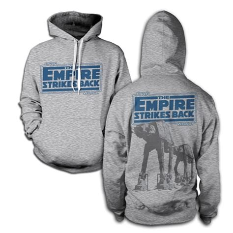 Hoodie Empire Strikes Wars Black wars empire strikes back at at hooded pullover