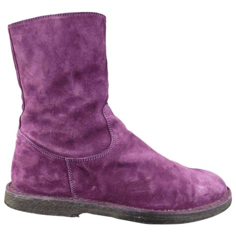 mens purple suede boots demeulemeester size 8 s purple suede crepe sole