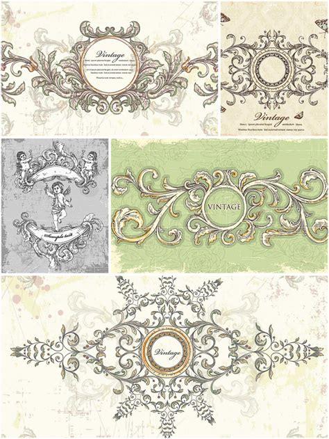 Wedding Card Vintage Vector by Vintage Wedding Frames Set Vector Free