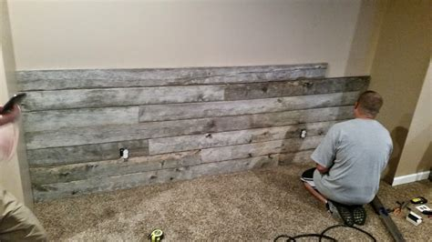 barnwood accent wall diy projects for reclaimed barn boards just b cause