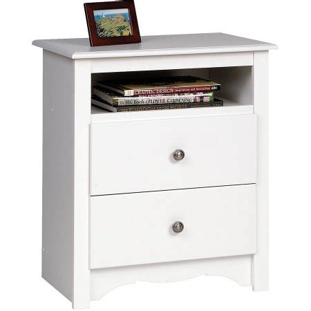 Nightstand With Shelf Monterey 2 Drawer Nightstand With Open Shelf Walmart