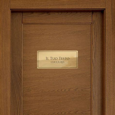 targhe porte targhette per porta ufficio progetta