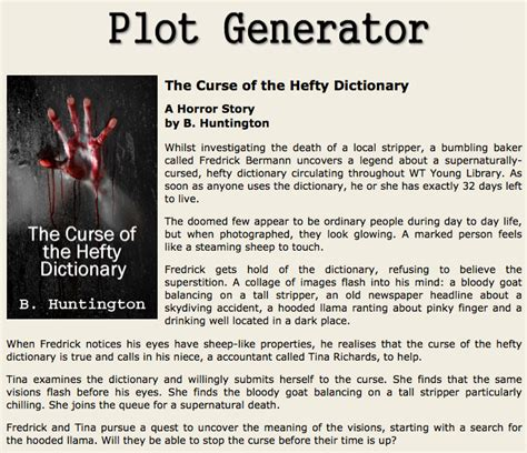 themes for a horror story write your own spooky story with random plot generators