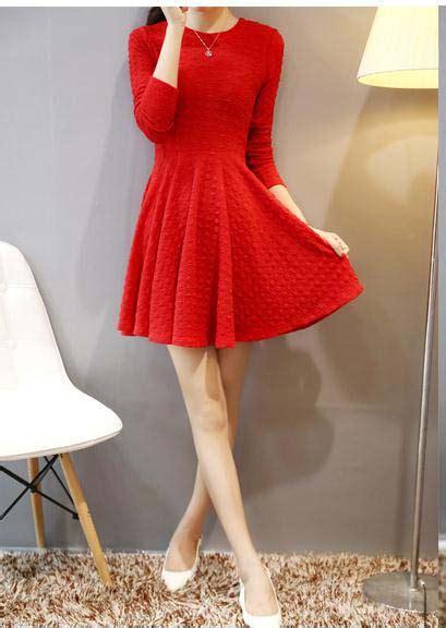 Harga Panjang Lu Natal by Mini Dress Natal Lengan Panjang Merah Myrosefashion