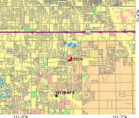 gilbert arizona zip code map zip codes gilbert arizona map