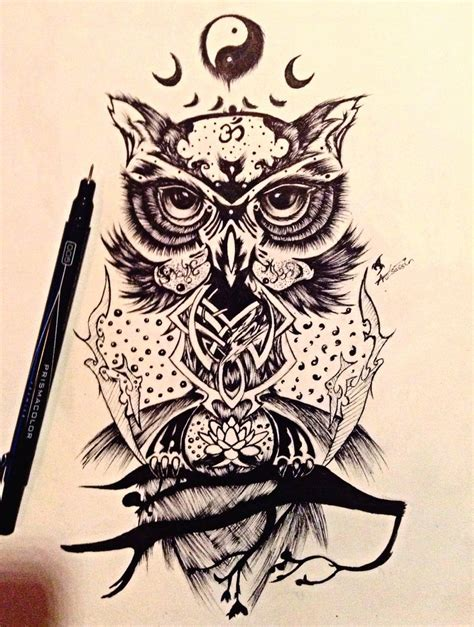 wise owl tattoo designs wise owl design by xemta1027 deviantart on deviantart