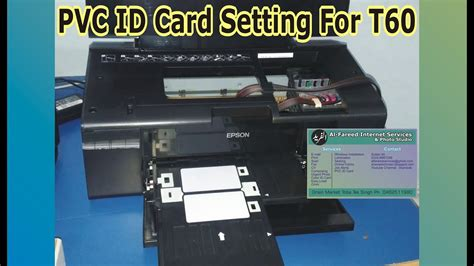 Printer Epson Id Card how to print pvc id card with epson t60 color printer