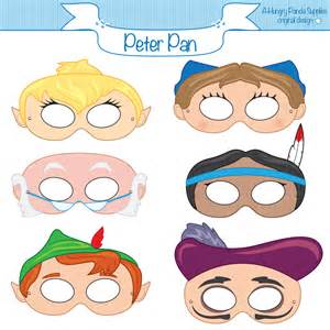 peter pan printable masks peter pan mask pan costume