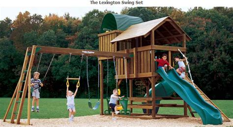 creative play swing sets lexington wooden swing sets nj fitness lifestyles