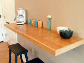 Floating Bar Table Wall Mounted Kitchen Counter Diy