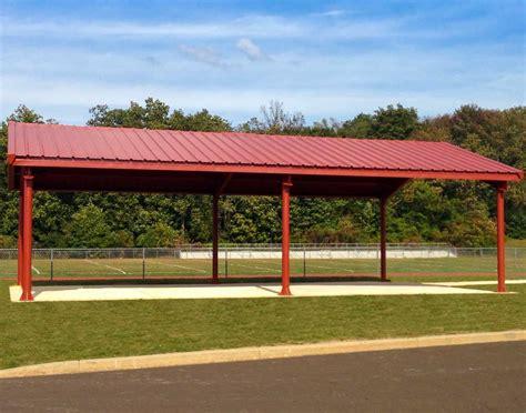 metall pavillon steel i beam single roof rectangle pavilions