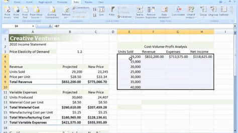 one variable data table excel tutorial 10 one variable data table