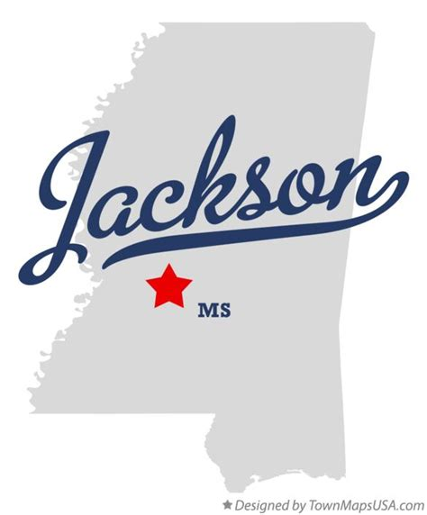 jackson ms map map of jackson ms mississippi