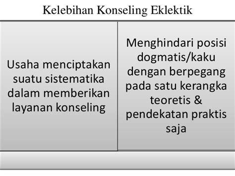 pendekatan konseling eklektik