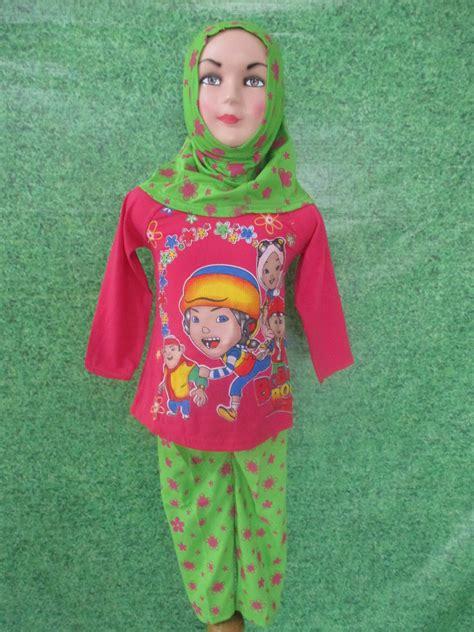 Stelan Anak Cewek Baju Anak Murah Dress Anak Stelan Lucu model baju muslim anak cewek set muslim cewek obralanbaju