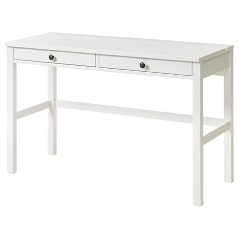 Hemnes Desk With 2 Drawers White Stain 120x47 Cm Ikea Hemnes Computer Desk
