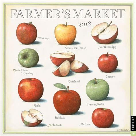Calendar 2018 Food Farmers Market 2018 Wall Calendar 9780789333285