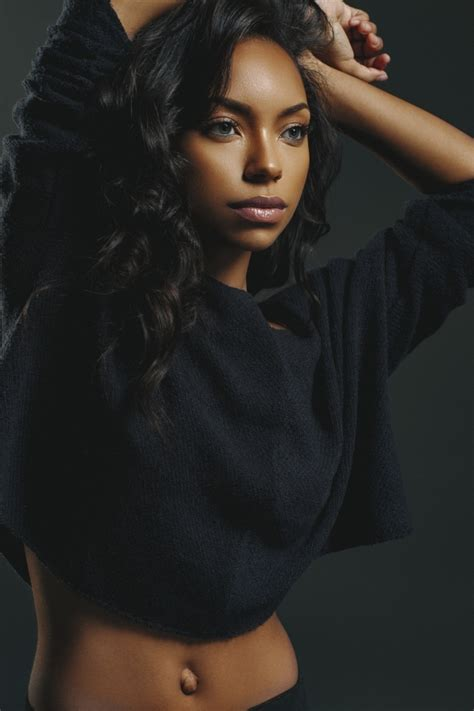 hit the floor star logan browning gets casually sexy in new photo shoot rolling out