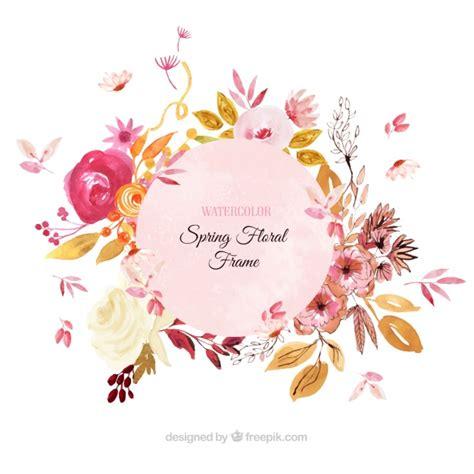 cornice floreale cornice floreale di primavera in stile acquerello