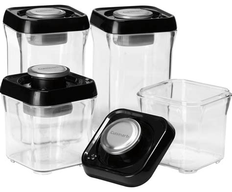 Apple Kitchen Canisters cuisinart fresh edge 8 piece vacuum sealed food storage