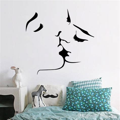 Home Design Decor App Reviews 2017 Selling Romantic Kiss Wall Stickers Removable