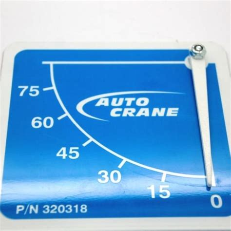 Auto Crane 3203 Decals by Auto Crane 320318000 Decal 3203 Angle Angle Indicator B