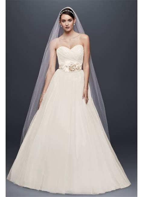 Tulle Wedding Gown by Strapless Sweetheart Tulle Wedding Dress David S Bridal