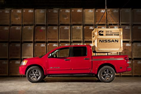 new nissan truck diesel news 2015 nissan titan to use cummins v8 diesel power