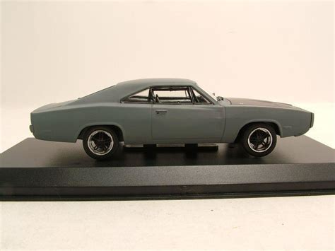 Greenlight 1 43 Dodge Charger The Fast And The Furius 2001 Promo dodge charger r t 1970 matt grau dom fast furious