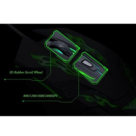 Mouse Rajfoo I5 rajfoo i5 mouse gaming usb dengan cahaya led black