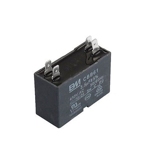 start capacitor for fan motor cbb61 ac450v 3 5uf rectangle shaped air conditioner fan motor start capacitor in capacitors from