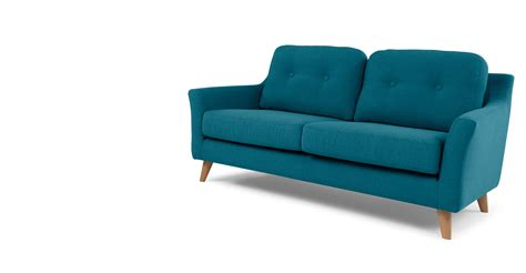 rich couch rufus 2 seater sofa rich azure made com
