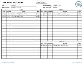 standard work excel template best photos of standard work excel template standard