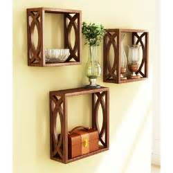 Wooden Home Decor Items Wall Shelves Buy Wall Shelves And Racks Online At Best