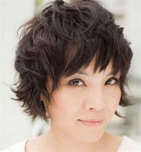 cute short haircuts for thick hair wavy hair cute short messy hairstyles for thick wavy hair cool