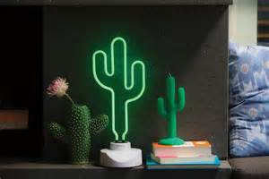 cactus lights leo sunnylife cactus neon light large