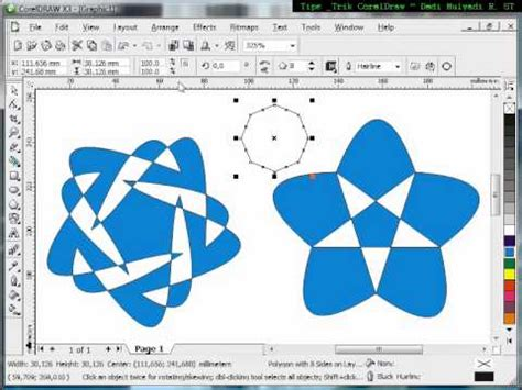 Tutorial Mastering Coreldraw 1 using polygon tool tutorial corel draw tips and trick