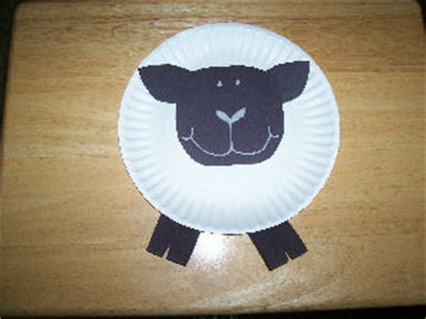 Paper Plate Sheep Craft - kinder printables early childhood printables free